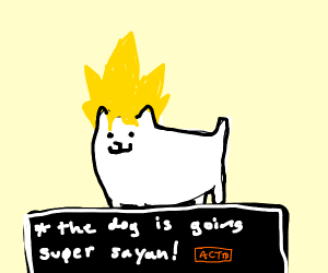 super sayan annoying dog from undertaile