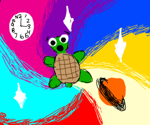 Turtle bends space and time