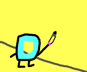 Drawception D drawing on the walls