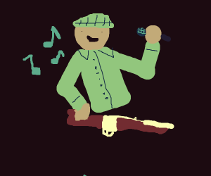 Man with a Rifle Singing