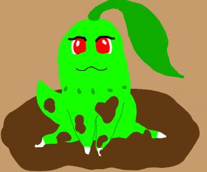 Chikorita in the mud