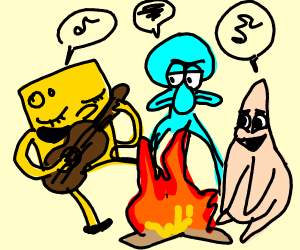 I call this one, the Campfire Song Song - Drawception