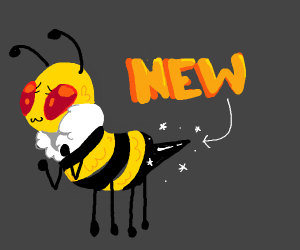 Bee with a new stinger