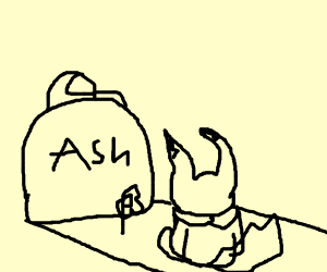 Ash is old and pikachu is not