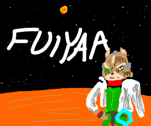 Fox on Mars