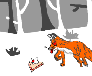 A fox in love with a pie