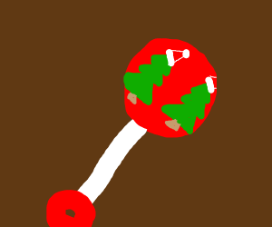 A beautiful Christmas baby rattle