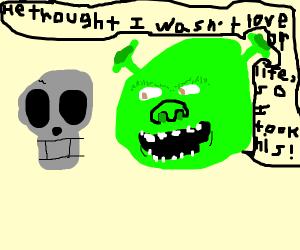 shrek with skull