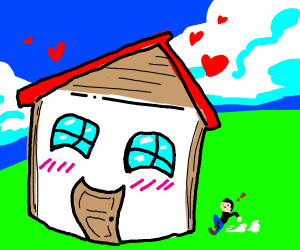 A house is in love with a guy