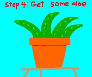 step 3: get burned