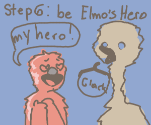 Step 5- Put the fire on Elmo out