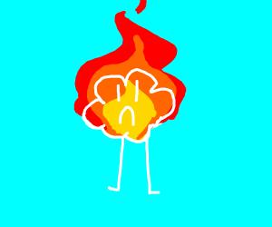 cloud on fire