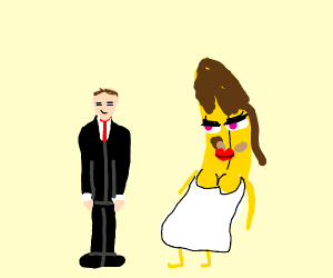 man marries a female banana