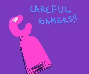 Pink Lego arms warning gamers