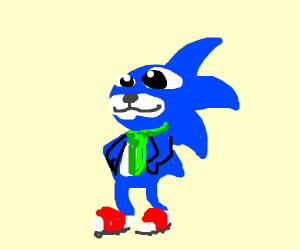 Sonic with tie