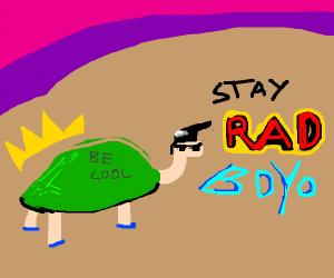 cool turtle says BOYO