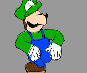 Luigi trying to be hip with the kids of today