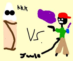 burrito klansman vs vape with gun
