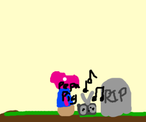 Peppa Pig Blares Music over a Grave