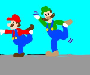Mario & Luigi yoga