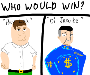 hey lois vs oi josuke