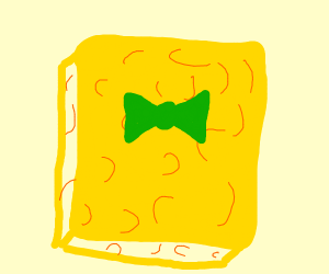 Normal sponge with a tie