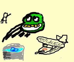 Alexa summons alien, plane and jedi