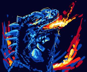 Fire breathing iguana