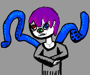 Edgy teen with three eyes has tentacle powers
