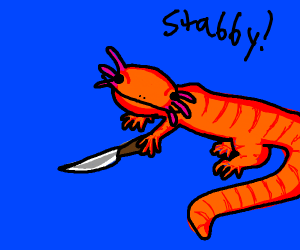 Salamander with a KNIFE