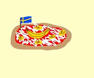Swedish Banana Pizza Drawception