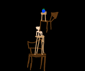 Blueberry sitting on chair on chair etc....