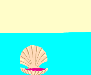 Clam under water