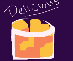 A delicious fruit cup