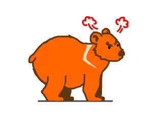 angry orange bear