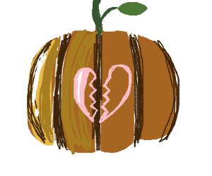 Broken hearted pumpkin
