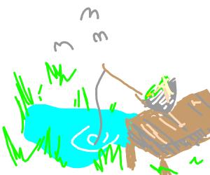 salad bowl goes fishing
