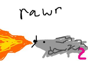 Fire breathing rat