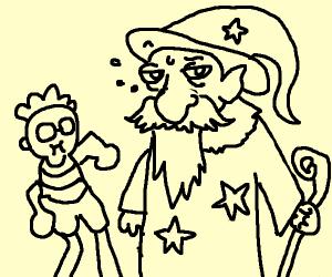 children yeet at wizard