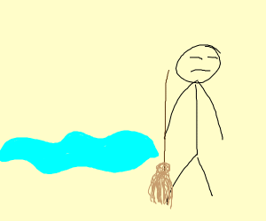 somebody who cant be bothered to mop a puddle