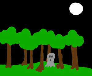 Ghost lost in the woods