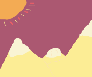 mountains in the sun shine