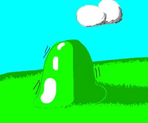 green blob is happy