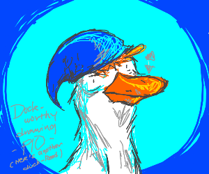 Duck worthy drawing PIO