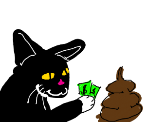 cat trades you $2 for poo