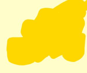 a yellow splatter that kinda looks like pee