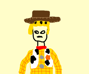 Toy Story but Woody is Giorno Giovanna