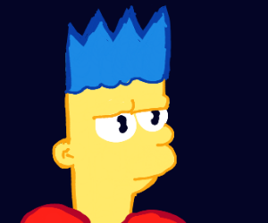 Bart has blue hair