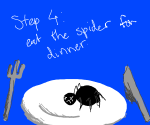 step 3 become friends with a spider