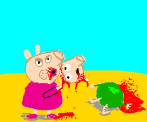 Peppa pig loves pork